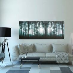 Wandprintset bomen 200x80 cm canvas meerkleurig