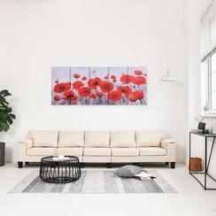 Wandprintset bloem 150x60 cm canvas meerkleurig