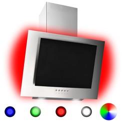 Afzuigkap RGB-LED 60 cm roestvrij staal en gehard glas