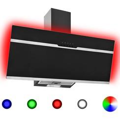 Afzuigkap RGB-LED 90 cm roestvrij staal en gehard glas