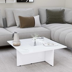 Salontafel 79,5x79,5x30 cm spaanplaat hoogglans wit