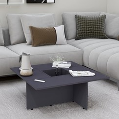 Salontafel 79,5x79,5x30 cm spaanplaat grijs