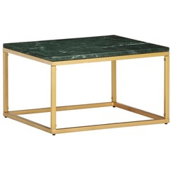 Salontafel 60x60x35 cm echt steen met marmeren textuur groen