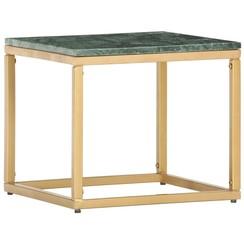 Salontafel 40x40x35 cm echt steen met marmeren textuur groen