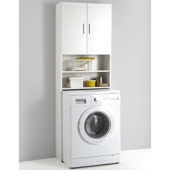 Wasmachinekast met opbergruimte wit 913-001