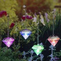 Solarlampen diamantvormig 4 st