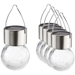 Solarhangers LED 5 st craquele glas