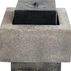 Vierkant bassin waterval grijs en zwart 35 W 850957