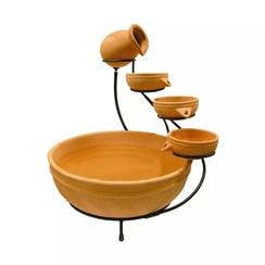 Acqua Arte set Terracotta met waterval element L