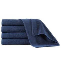 Douchehanddoeken 5 st 450 g/m² 70x140 cm katoen marineblauw