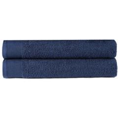 Handdoeken 2 st 450 g/m² 50x100 cm katoen marineblauw