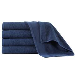 Handdoeken 5 st 450 g/m² 50x100 cm katoen marineblauw