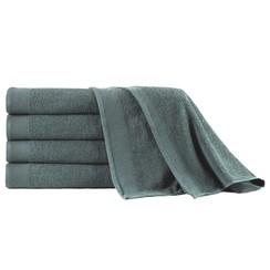 Saunahanddoeken 5 st 450 g/m² 80x200 cm katoen groen