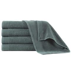 Handdoeken 5 st 450 g/m² 50x100 cm katoen groen