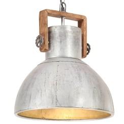 Hanglamp industrieel rond 25 W E27 40 cm zilverkleurig