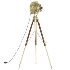 Vloerlamp driepoot 193 cm massief mangohout
