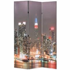 Kamerscherm inklapbaar New York bij nacht 120x170 cm