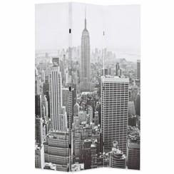 Kamerscherm New York bij daglicht 120x170 cm zwart en wit