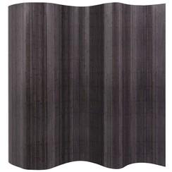 Kamerscherm 250x165 cm bamboe grijs