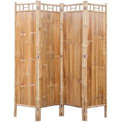 Kamerscherm bamboe 4 panelen