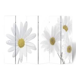 Kamerscherm inklapbaar bloem 240x170 cm