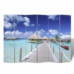 Kamerscherm inklapbaar strand 240x170 cm