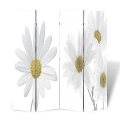 Kamerscherm inklapbaar bloem 160x170 cm