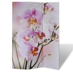 Kamerscherm inklapbaar bloem 120x170 cm