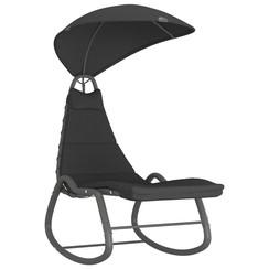 Tuinschommelstoel 160x80x195 cm stof zwart