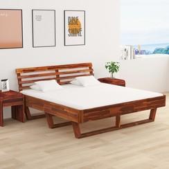 Bedframe met 2 nachtkastjes 180x200 cm massief acaciahout