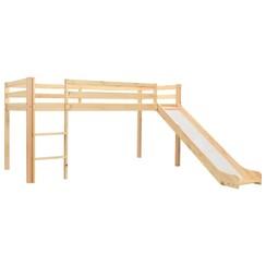Kinderhoogslaper met glijbaan en ladder 97x208 cm grenenhout