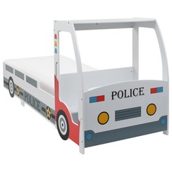 Kinderbed politieauto met 7 Zone H2 matras 90x200 cm
