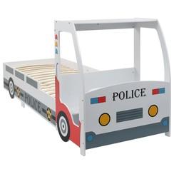 Kinderbed politieauto met bureau 90x200 cm