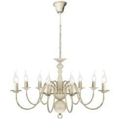 Kroonluchter wit metaal 8 x E14 lampen