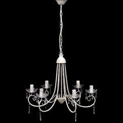Kroonluchter met wit elegant design (6 lampen)