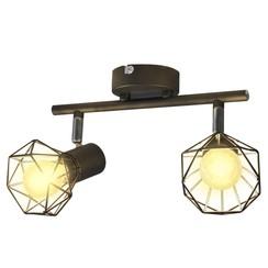 Lamp industrieel met 2 LED's zwart