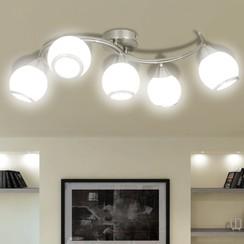 Plafondlamp met glazen kappen + golvende rail