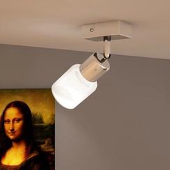 Plafondlamp glazen cilinder kap incl. LED lamp
