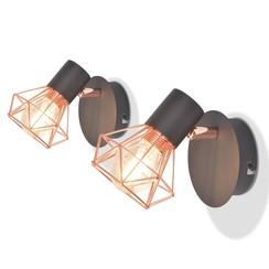 Wandlampen met 2 filament LED-lampen 8 W 2 st