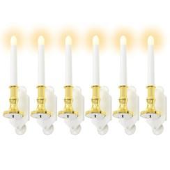 Solarkaarsen LED-lichten warm wit 6 st