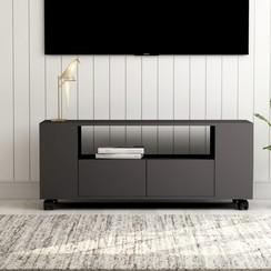 Tv-meubel 120x35x43 cm spaanplaat grijs