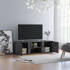 Tv-meubel 120x34x37 cm spaanplaat hoogglans grijs