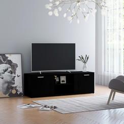 Tv-meubel 120x34x37 cm spaanplaat zwart