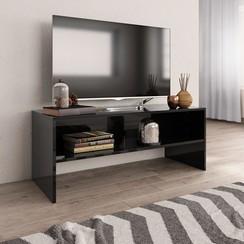 Tv-meubel 100x40x40 cm spaanplaat hoogglans zwart