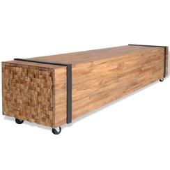Tv-meubel teakhout 150x30x30 cm