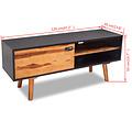 Tv-meubel 120x35x50 cm massief acaciahout
