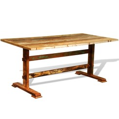 Eettafel vintage stijl gerecycled hout
