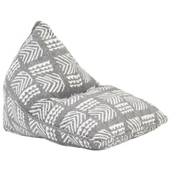 Zitzak stof patchwork grijs