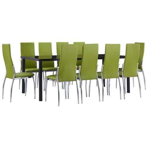 11-delige Eethoek kunstleer groen