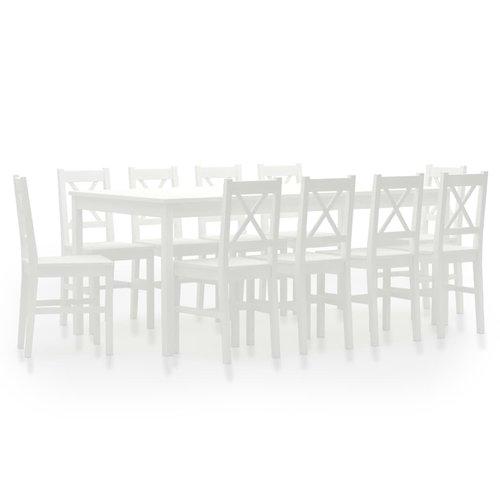 11-delige Eethoek grenenhout wit